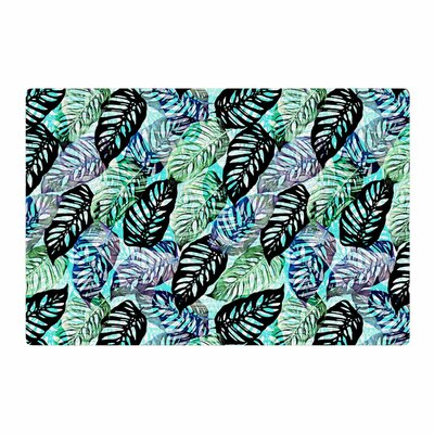 Victoria Krupp Tropical Leaves Nature Green Area Rug Rug Size: 2 x 3