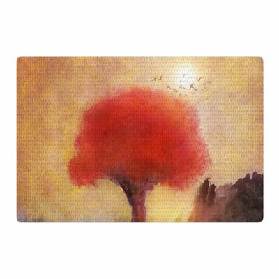 Viviana Gonzalez Red Tree Yellow/Purple/Red Area Rug Rug Size: 2 x 3