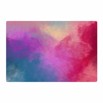 Viviana Gonzalez Abstract 01 Pink/Blue Area Rug Rug Size: 2 x 3