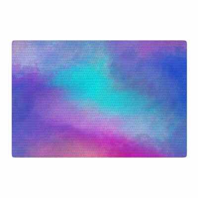 Viviana Gonzalez Abstract 02 Purple/Blue Area Rug Rug Size: 4 x 6