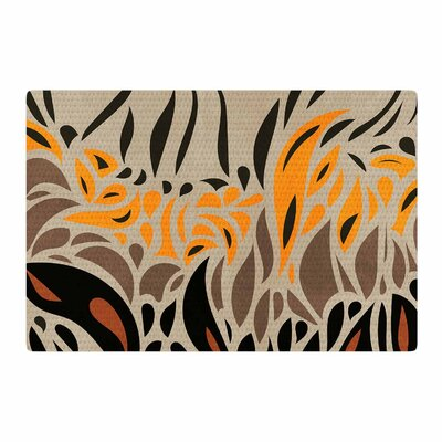 Viviana Gonzalez Africa - Abstract Pattern I Brown/Orange Area Rug Rug Size: 2 x 3