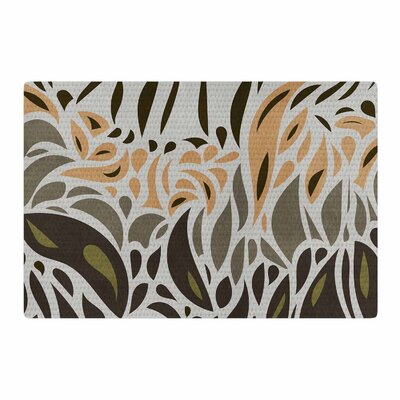 Viviana Gonzalez Africa - Abstract Pattern II Gray/Green Area Rug Rug Size: 2 x 3