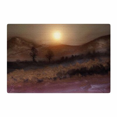 Viviana Gonzalez Calling the Sun V Purple/Brown Area Rug Rug Size: 2 x 3