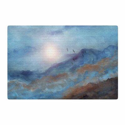 Viviana Gonzalez Calling the Sun VI Blue/White Area Rug Rug Size: 2 x 3