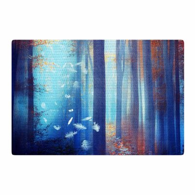 Viviana Gonzalez Dreams Trees Blue/Red Area Rug Rug Size: 2 x 3