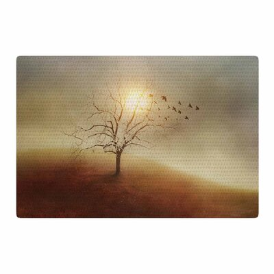 Viviana Gonzalez Lone Tree Love I Orange/Yellow Area Rug Rug Size: 2 x 3