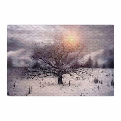 Viviana Gonzalez Lone Tree Love II Orange/White Area Rug Rug Size: 2 x 3