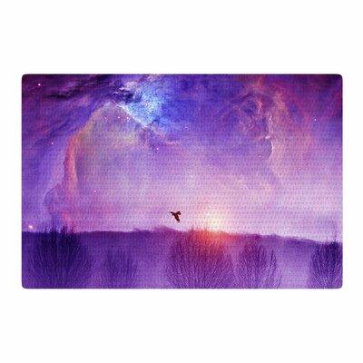 Viviana Gonzalez Orion Nebula Purple/Blue Area Rug Rug Size: 2 x 3