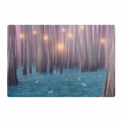Viviana Gonzalez Feather Dance Digital Blue/Pink Area Rug Rug Size: 2 x 3
