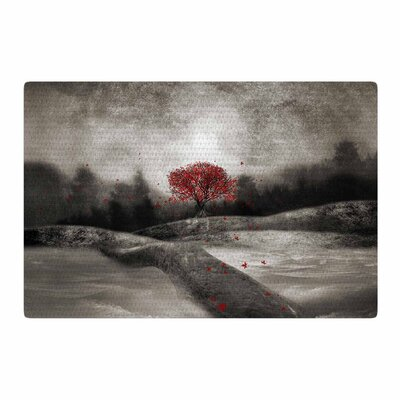 Viviana Gonzalez The Sounds and Poems 1 Tree Red/Black Area Rug Rug Size: 2 x 3