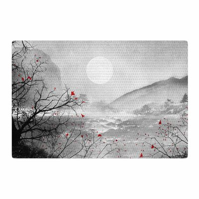 Viviana Gonzalez The Sounds and Poems, Chap Red/Gray/Black Area Rug Rug Size: 2 x 3