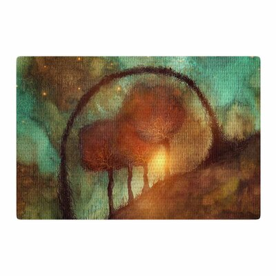 Viviana Gonzalez Track 28: Sunset and Dreams II Green/Orange Area Rug Rug Size: 4 x 6