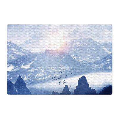 Viviana Gonzalez Winter, Melody... Blue/Nature Area Rug Rug Size: 4 x 6