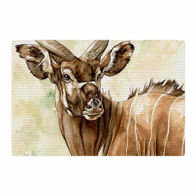 Wildlife Africa 1 Animals Brown Area Rug Rug Size: 2 x 3