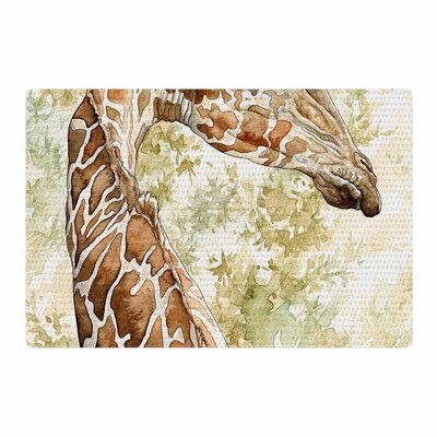Wildlife Africa 1 Animals Brown/Green Area Rug Rug Size: 2 x 3