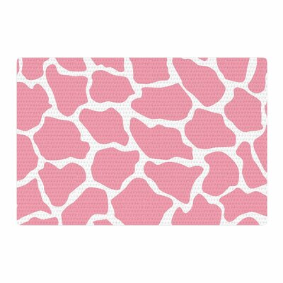 Wildlife Animal Print Digital White/Pink Area Rug Rug Size: 4 x 6