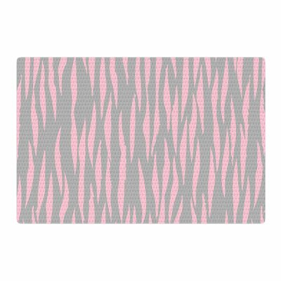 Wildlife Animal Print Gray/Pink Area Rug Rug Size: 2 x 3