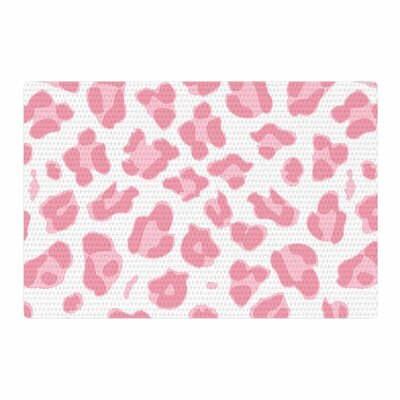 Wildlife Animal Print Digital Pink/White Area Rug Rug Size: 2 x 3