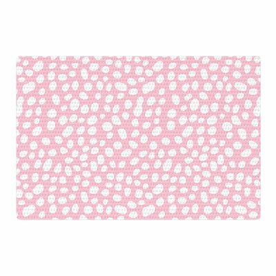 Wildlife Animal Print Digital White/Pink Area Rug Rug Size: 2 x 3