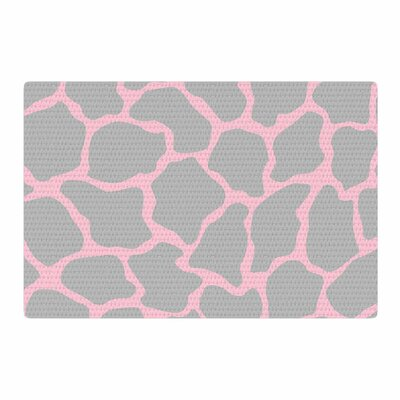 Wildlife Animal Print Digital Pink/Gray Area Rug Rug Size: 2 x 3