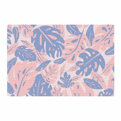 Will Wild Rose Quartz and Serenity Jungle Floral Pink/Blue Area Rug Rug Size: 4 x 6