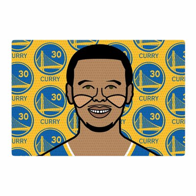 Will Wild Steph Curry Sports Yellow/Brown/Blue Area Rug Rug Size: 2 x 3