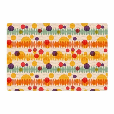 Yenty Jap Bubble Stripes Fun Geometric Orange Area Rug Rug Size: 4 x 6