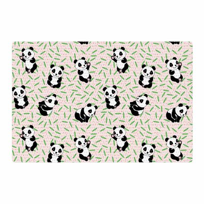 Yenty Jap Little Cute Pandas Black/White Area Rug Rug Size: 4 x 6