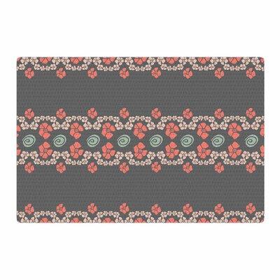 Zara Martina Mansen Flora Formations Gray/Pink Area Rug Rug size: 2 x 3