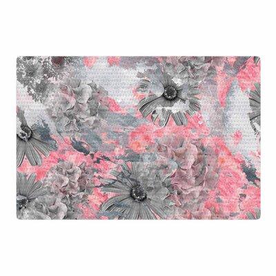 Zara Martina Mansen Floral Pink/Gray Area Rug Rug size: 4 x 6