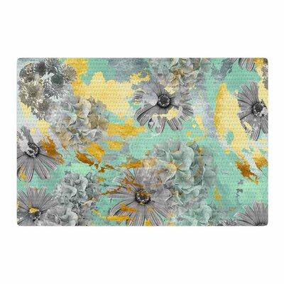 Zara Martina Mansen Garden Green/Gray/Gold Area Rug Rug size: 2 x 3