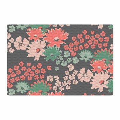Zara Martina Mansen Natures Bouquet Gray/Pink Area Rug Rug size: 4 x 6