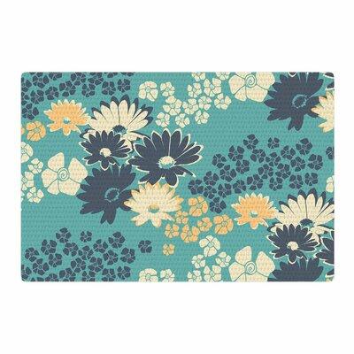 Zara Martina Mansen Bouquet Green/Blue/Teal Area Rug Rug size: 2 x 3