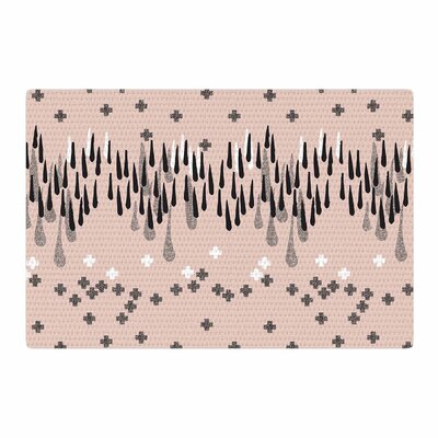 Zara Martina Masen A Drop of Memphis Peach/Pastel/Black Area Rug Rug size: 2 x 3