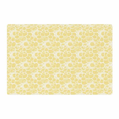 Mydeas Sunny Spots Pattern Vector Yellow/White Area Rug Rug Size: 4 x 6