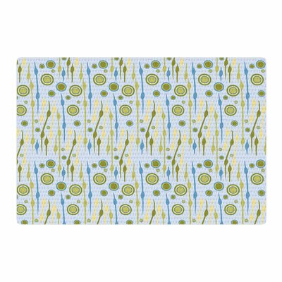 Mydeas Dot Whimsy Pattern Vector Blue/Green Area Rug Rug Size: 4 x 6