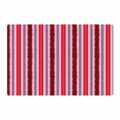Mydeas Scribbled Candy Stripes Vector Pink/Red Area Rug Rug Size: 2 x 3