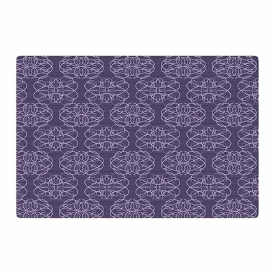 Mydeas Scroll Damask Vector Purple Area Rug Rug Size: 4 x 6