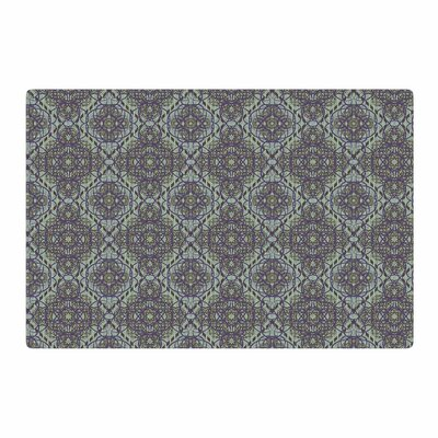 Mydeas Scroll Damask Vector Green/Purple Area Rug Rug Size: 2 x 3