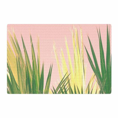 Ann Barnes Neon Jungle II Photography Pastel Green/Pink Area Rug Rug Size: 2 x 3