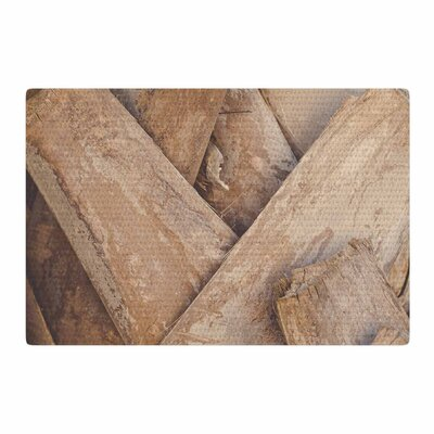 Ann Barnes Tropical Texture Photography Brown/Beige Area Rug Rug Size: 2 x 3