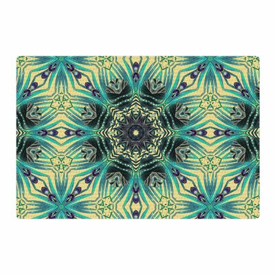Alison Coxon Paradise 2 Yellow/Teal Digital Area Rug Rug Size: 4 x 6