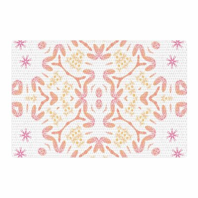 Alison Coxon Aztec Feather Coral/White Area Rug Rug Size: 2 x 3