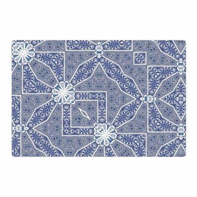 Alison Coxon Santorini Tile Blue/White Digital Area Rug Rug Size: 2 x 3
