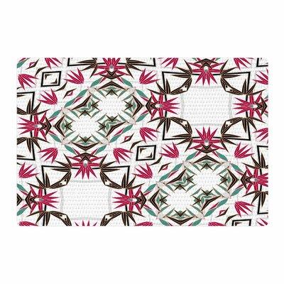 Alison Coxon Tokyo Garden Digital Teal/Maroon Area Rug Rug Size: 4 x 6