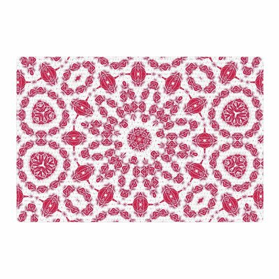 Alison Coxon Ruby Mandala Red/White Digital Area Rug Rug Size: 4 x 6