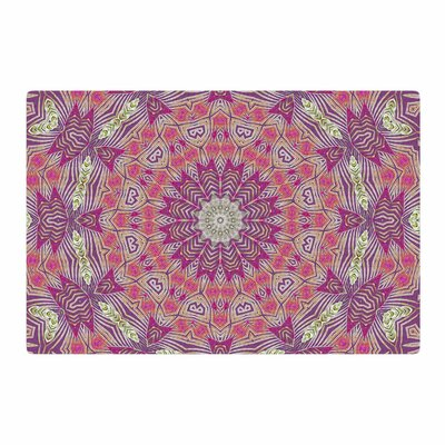 Alison Coxon Gypsy Medallion Purple/Pink Digital Area Rug Rug Size: 2 x 3