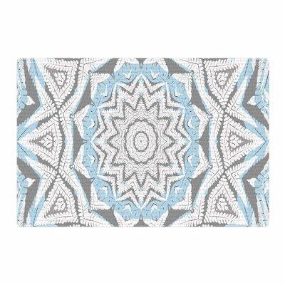 Alison Coxon Plant House Mandala Blue/Beige Digital Area Rug Rug Size: 4 x 6