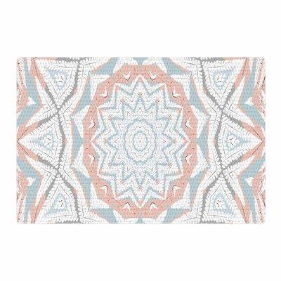 Alison Coxon Plant House Mandala Coral/Blue Digital Area Rug Rug Size: 4 x 6