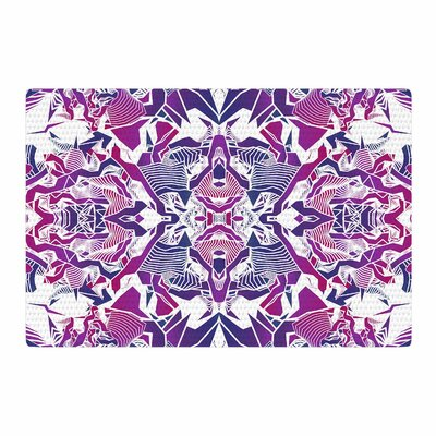 Angelo Cerantola Tribe Digital Purple/Blue Area Rug Rug Size: 4 x 6